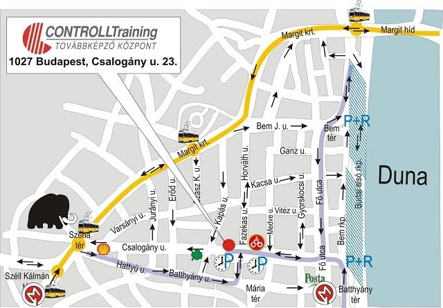 budapest csalogány utca térkép Térkép   CONTROLLTraining Továbbképző Központ budapest csalogány utca térkép